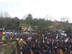 Forte mobilisation contre le gaz de schiste à Barjac (Gard)