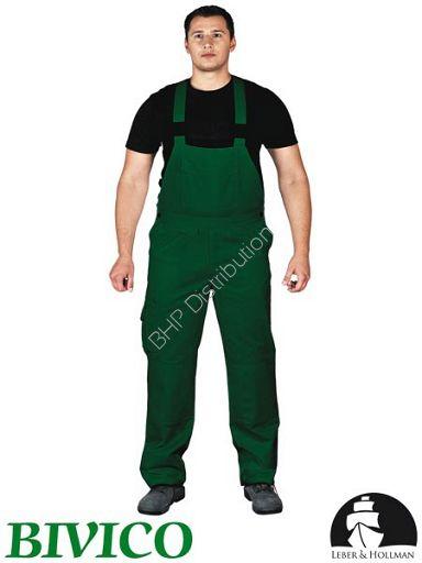 promocja! Zielone spodnie ochronne ogrodniczki LH-BISTER