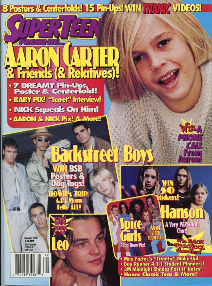 SUPER TEEN Dec 1998 - Aaron Carter - Hanson - Olsen Twins