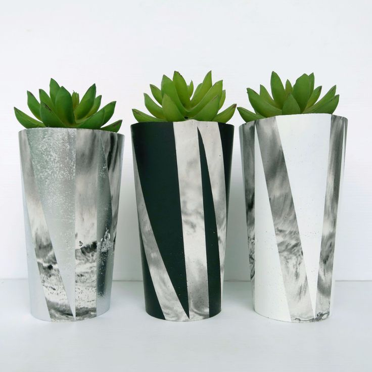 Designer Concrete Graffiti Planter
