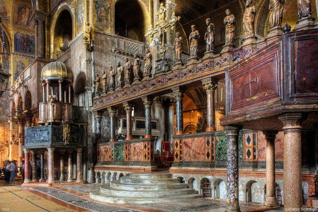 34 best images about f 6 3 medieval gothic international for Interno basilica san marco