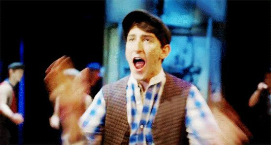 Me, internally, the entire time watching Newsies Live.