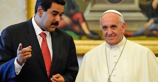 Papa Francisco con disposición para dialogar con Maduro