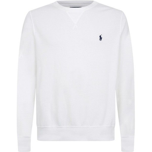 Polo Ralph Lauren Small Pony Sweatshirt ($135) ❤ liked on Polyvore featuring tops, hoodies, sweatshirts, round neck sweatshirt, polo ralph lauren, polo ralph lauren sweatshirt, long sleeve tops and long sleeve sweatshirt