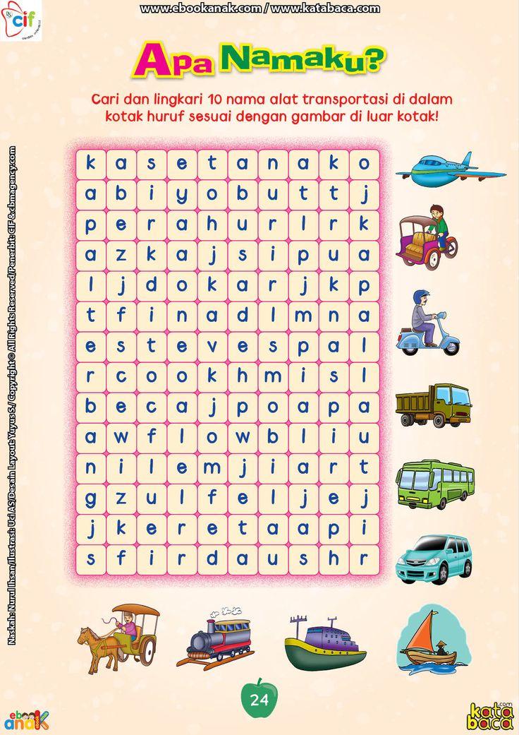 Mencari Dan Melingkari Nama Nama Alat Transportasi Belajar Transportasi Belajar Ejaan Kindergarten worksheets online games