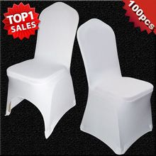 100 PCS Universal White Stretch Polyester Wedding Party Spandex Chair Covers for Weddings Banquet Hotel Decoration Decor(China (Mainland))