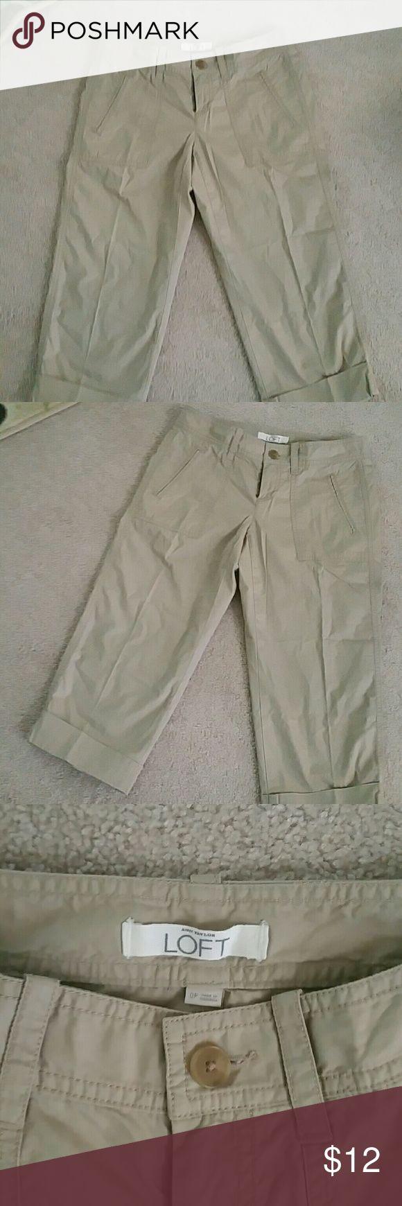 Loft khaki capris...excellent condition Loft khaki capris with pockets....wore once LOFT Pants Capris