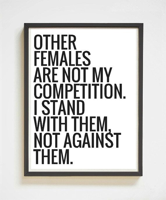 Other Females Girl Power Feminist Quote by SassMouthPrints Other Females | Girl Power | Feminist Quote | Printable Art | Digital Print | Quote Poster | Gifts for Her | Black & White Wall Decor