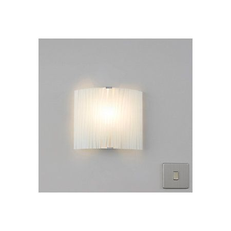 Zebra Stripe Frosted Effect Wall Light | Departments | DIY at B&Q