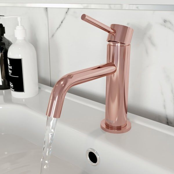 Mode Spencer Round Rose Gold Basin Mixer Tap Offer Pack Basin Mixer Taps Basin Mixer Mixer Taps