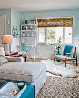 Pale Aqua Living Room
