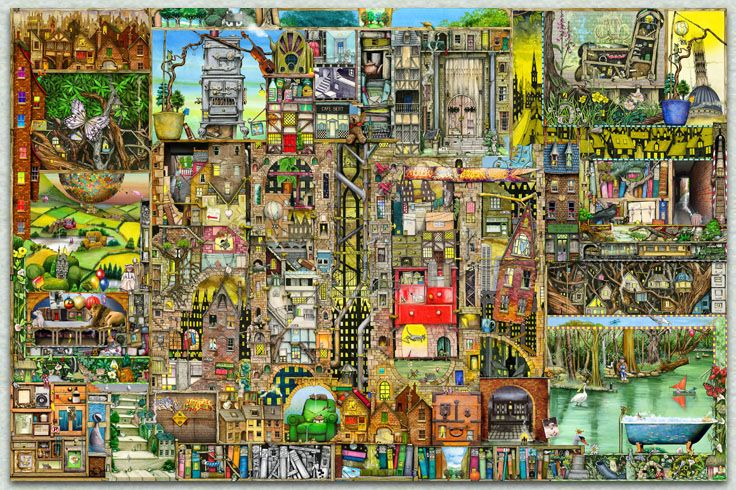 Colin Thompson - Jigsaw Puzzles 5000 piece puzzle - OUR TOWN should be out in 2015