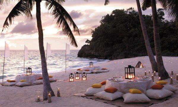 Beautiful beach dining