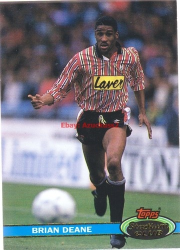 Brian Deane Sheffield United #19 Topps 1992 Stadium Club Football Card
