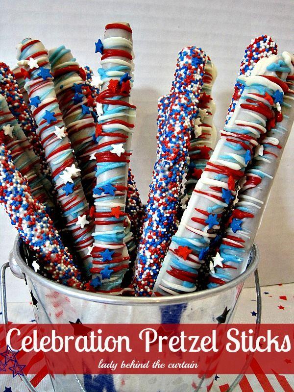 Celebration Pretzel Sticks http://www.kansascitysteaks.com/4th-of-July-Essentials.2.htm