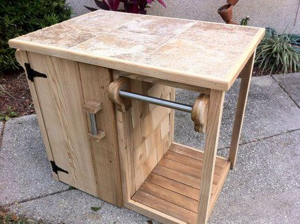 19 best images about outdoor cooking on pinterest pallet for Outdoor grill cabinet plans