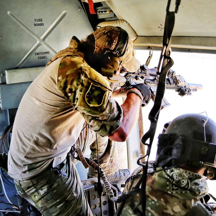 A Devgru Sniper Shots His Hk417 From A Helicopter