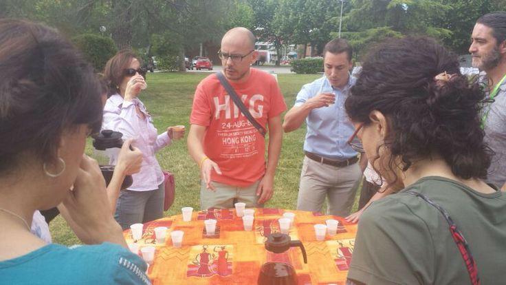 Presentación de los tés en la Fábrica de Proyectos de Lucía Molet