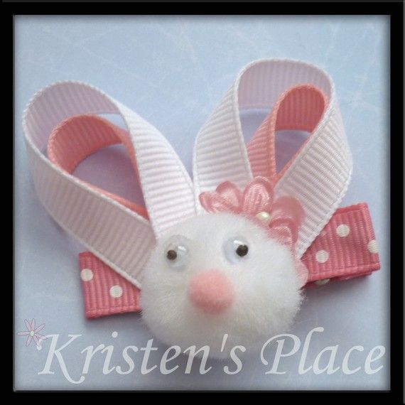 Easter Bunny Hairbow from KristensPlace on Etsy.com http://www.etsy.com/listing/68263525/easter-bunny-hair-bow?ref=sr_gallery_7&sref=&ga_search_submit=&ga_search_query=Easter&ga_view_type=gallery&ga_ship_to=US&ga_page=2&ga_search_type=handmade&ga_facet=handmade