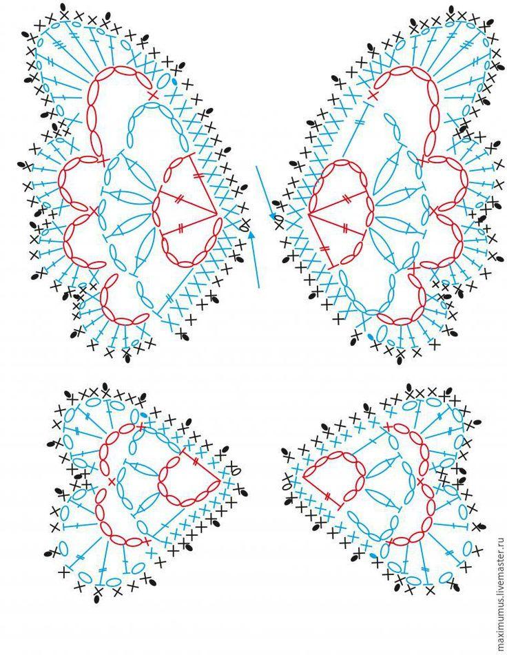 """Вяжем крючком украшение """"Бабочка"""" - Ярмарка Мастеров - ручная работа, handmade"""