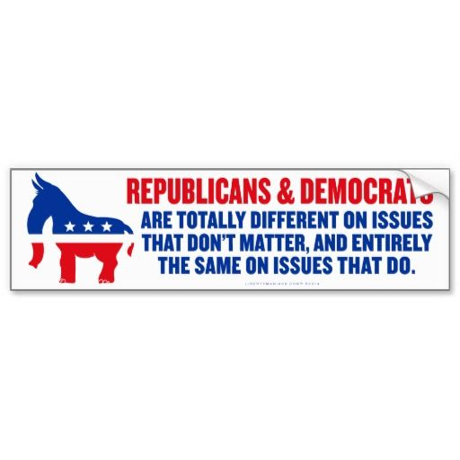 Political parties bumper sticker