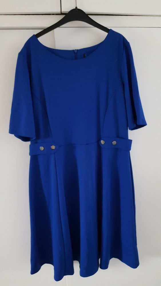 79eeaf7ffbc Ladies royal blue dress with short sleeves flared skirt size 16 chest 42  Inches #fashion #clothing #shoes #accessories #womensclothing #dresses  (ebay link)
