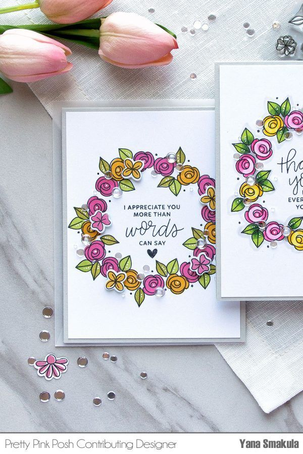 Hello, Pretty Pink Posh fans! This is Yana and today I wanted to share a technique video to show you two different ways to add color to outline images from the Bold Blossoms stamp set that releases…
