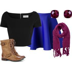 Frozen's Princess Anna inspired outfit. I can wear this if my friends and I are Frozen characters for Halloween