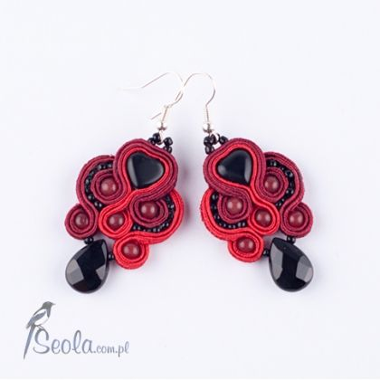 "Soutache earrings from ""BlackX Soutache""  collection"