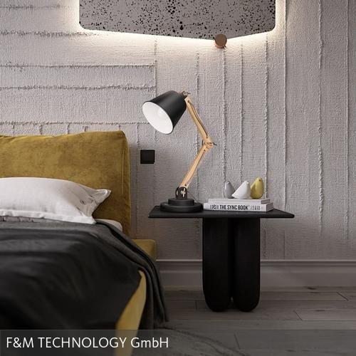 Die Nachttischlampe von tomons ist ein toller Blickfang im skaninavischen Stil