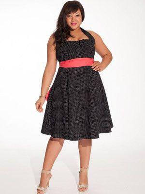 Vintage Polka Dot Plus Size Dress – SexyPlus Clothing
