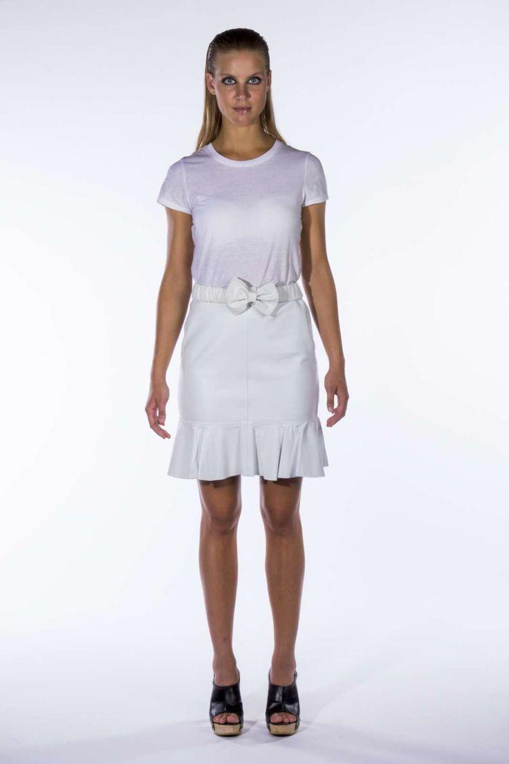 Stine Kim Design all white outfit aw14 #blackandwhite