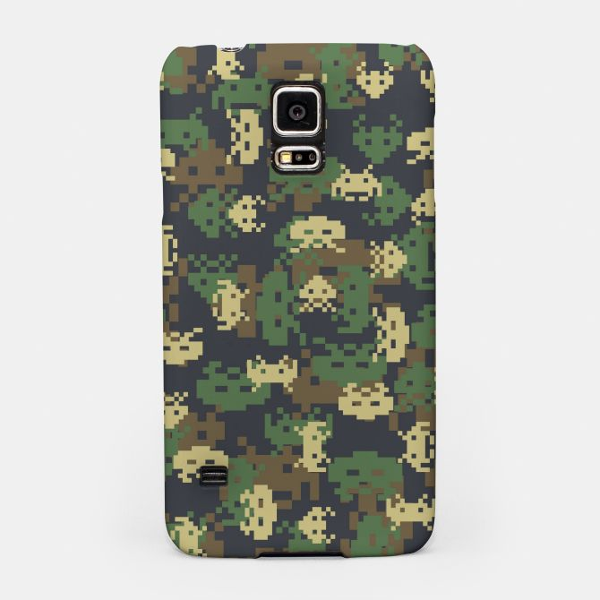 Invaded Camo WOODLAND Gamer Samsung Case, Live Heroes gamer, gamers, gaming, game, pattern, camo, camouflage, army, military, alien, arcade, defender,…