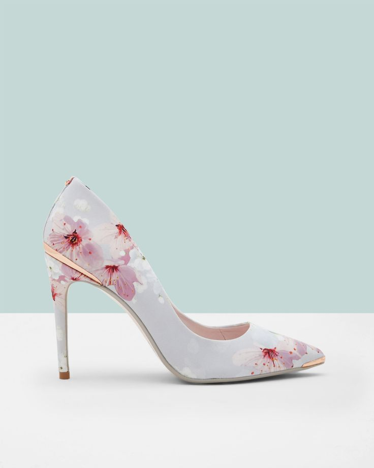 Printed pointed courts - Light Gray | Shoes | Ted Baker