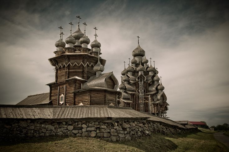 The island of Kizhi: Russia's best-known wooden heritage sites. Source: long-way.ru #russia #places #travel #tourism #kizhi