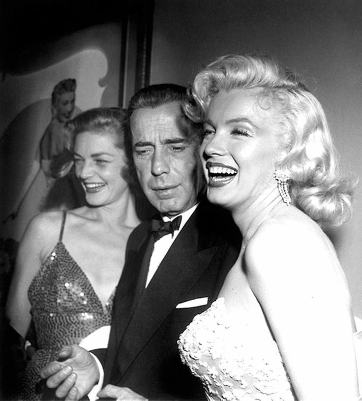 Lauren Bacall, Humphrey Bogart, and Marilyn Monroe from Jake's Old Hollywood World