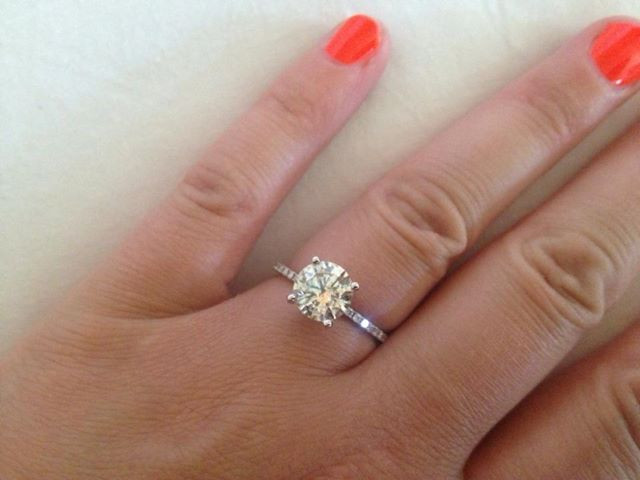 2 carat solitaire engagement ring with thin band