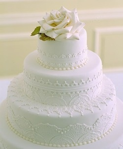 an all white cake, which I want, but the design gives it texture - I love it!