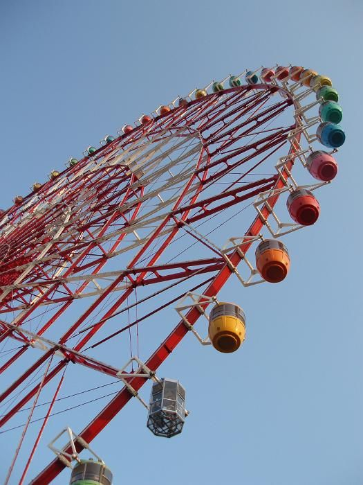 a huge ferris wheel with colourful , tokyo docklands entertainment development - free stock photo from www.freeimages.co.uk