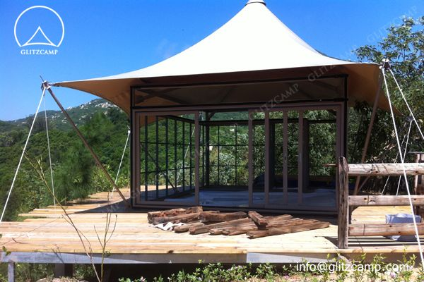 Glitzcamp lodge tent hotel for resorts, camping sites and glamping http://www.glamping-tent.com/