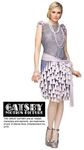1920s Gatsby Daisy Buchanan Bluebells Womans Costume.  20's; grooving to Jazz costumes & accessories. Next day delivery
