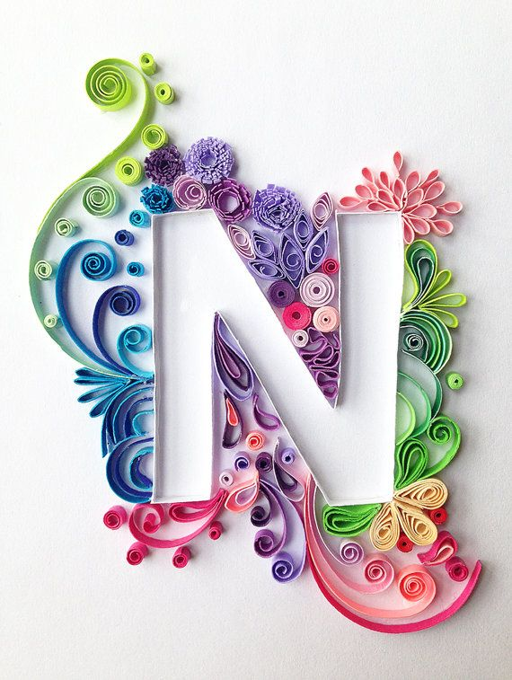 Custom-made Quilling Letter Notebook Journal by WhyNotHandmade