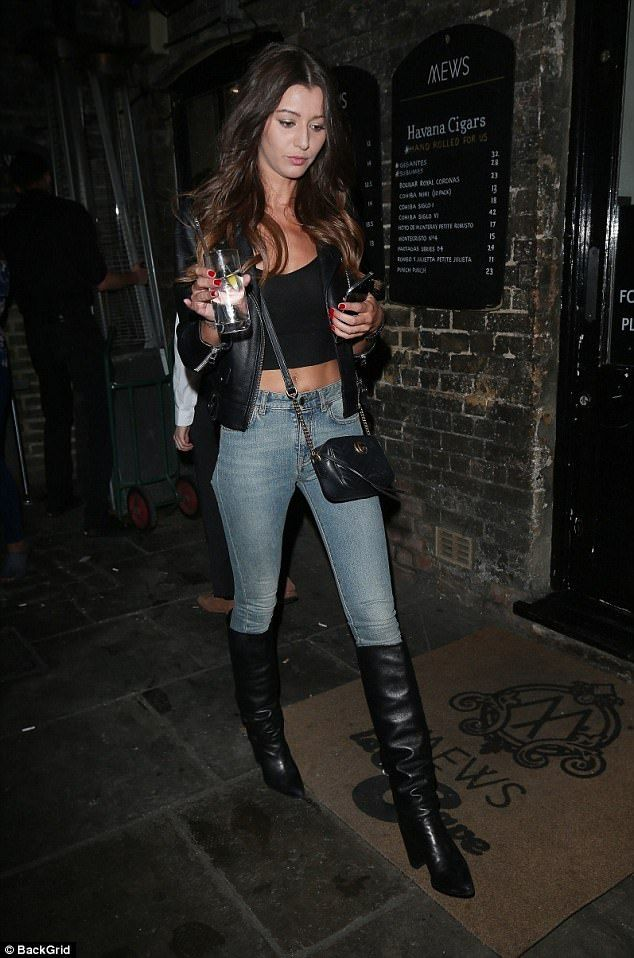Rare outing: Eleanor Calder was letting her hair down at the TINGS Magazine launch party i...