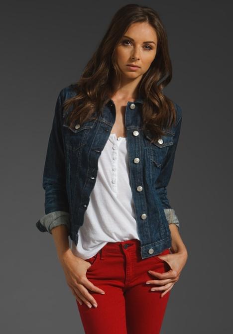 Red jeans/Jean Jacket