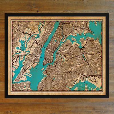 New York City Elite City Print - City Prints Map Art