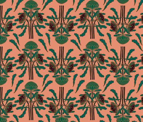 Dark waratah fabric