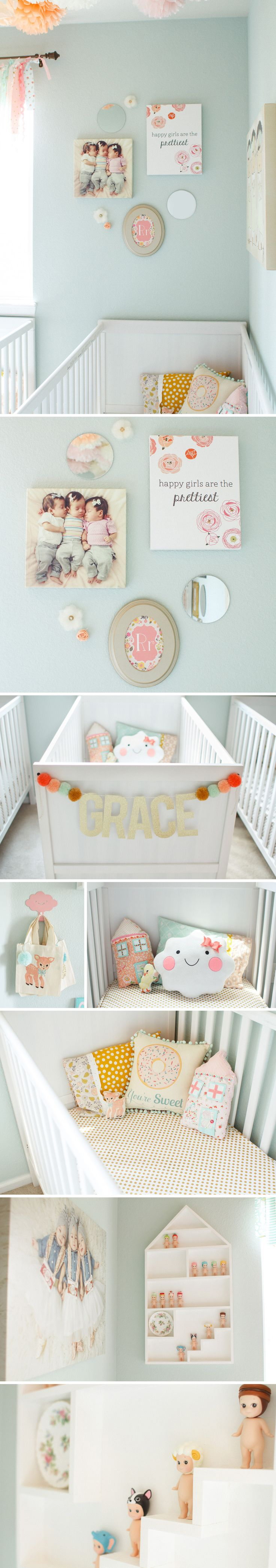 Crib for triplet babies - Nursery Blog Collage 21 Operation Robinson Triplet Nursery Complete