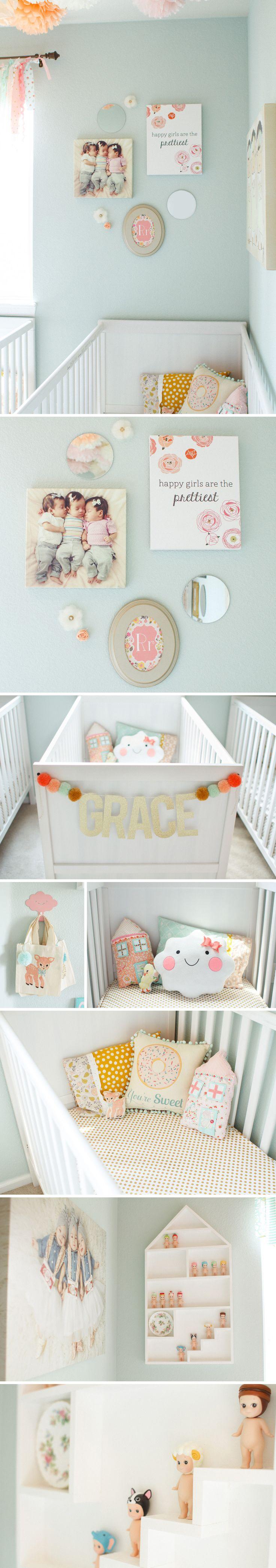 nursery blog collage 21 Operation Robinson Triplet Nursery Complete