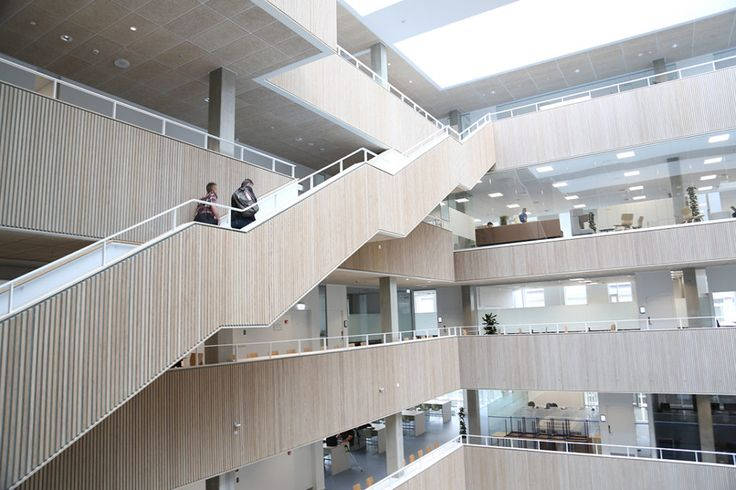 Projects we love: LILLEBAELT ACADEMY - Four Design - The LILLEBEALT buildings by Henning Larsen Architects will accommodate 3,000 students, and it contains a variety of versatile spaces and environments that emphasizes learning and social interaction.