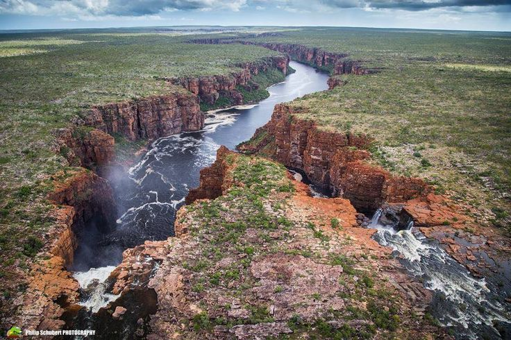 The mighty King George Falls in Australia's North West look spectacular from every angle, but we're especially fond of seeing Western Australia's tallest twin waterfalls from the air. Philip Schubert Photography